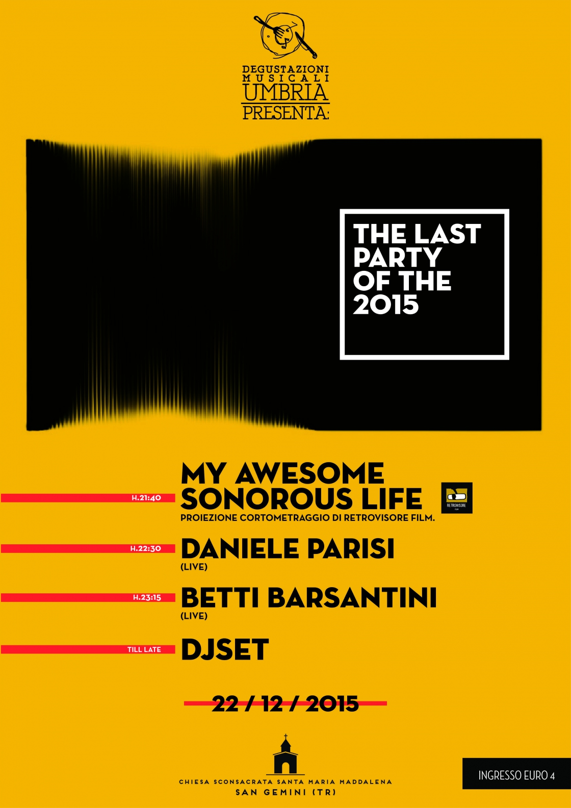 The last party of 2015: Retrovistore Film + Daniele Parisi + Betti Barsantini