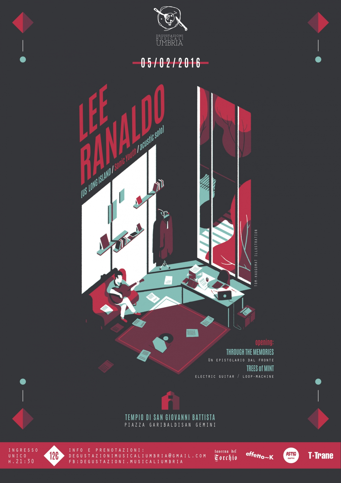 LEE RANALDO (Sonic Youth / Solo Acoustic Show) + TREES OF MINT + THROUGH THE MEMORIES